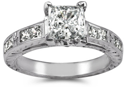 Hand crafted diamond engagement rings